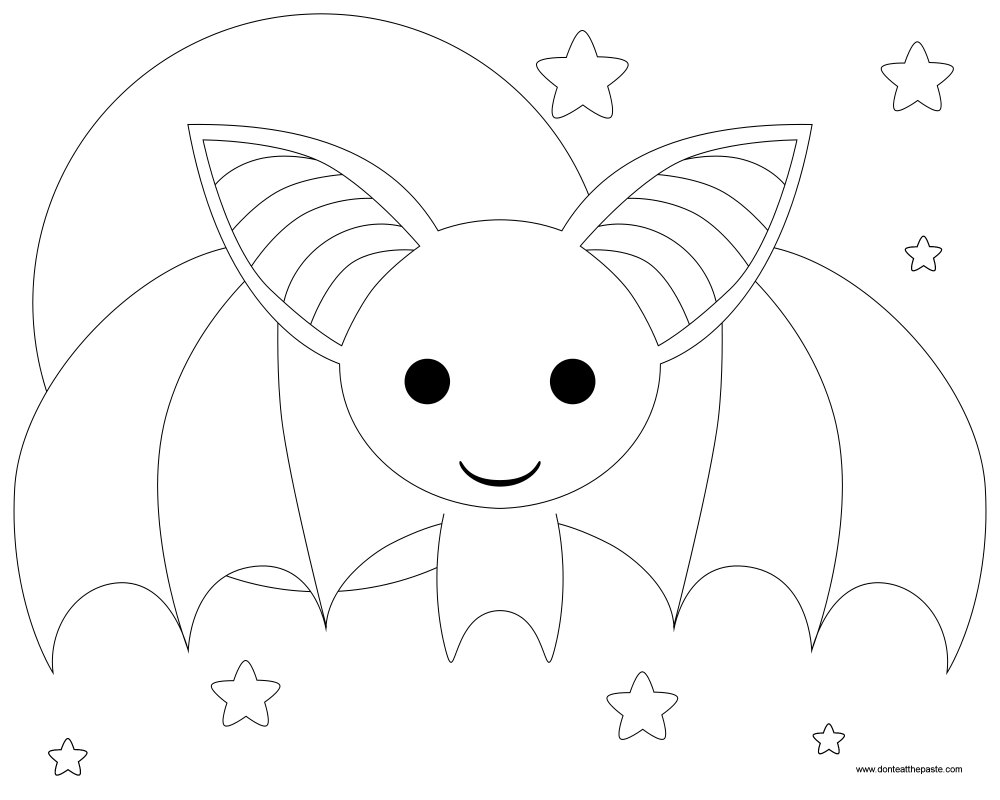 1000x800 Fascinating Bat Coloring Pages To Print Printable Image For Style