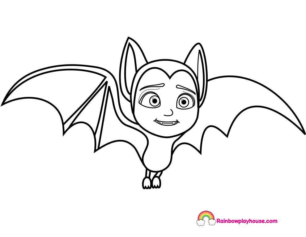 990x765 Printable Vampirina Bat Coloring Page Cute Coloring Pages