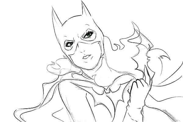 600x400 Batgirl Para Colorear Free Printable Super Hero High Coloring