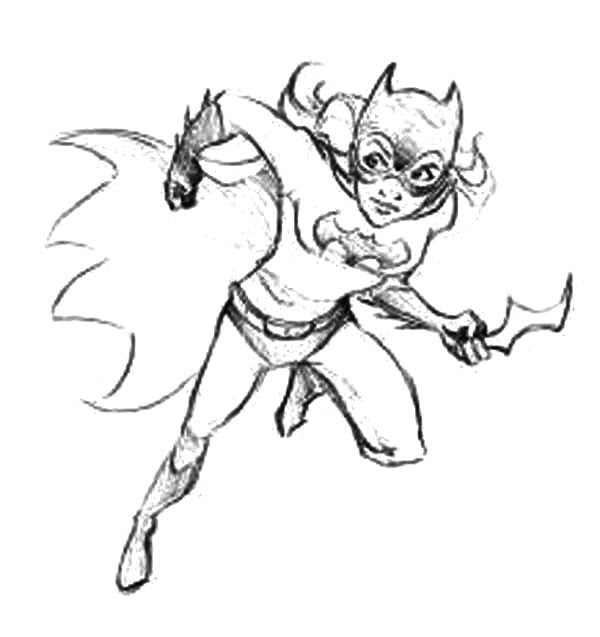 600x637 Batgirl Weapon Coloring Pages Best Place To Color