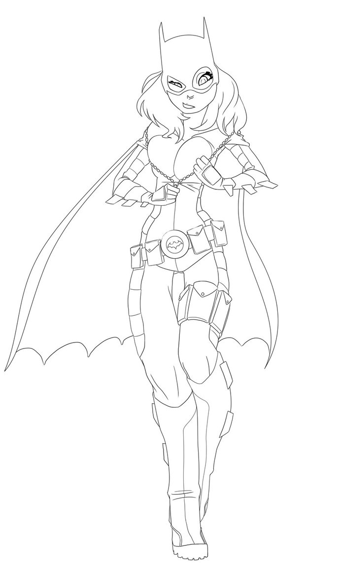 686x1165 Free Printable Batgirl Coloring Pages For Kids