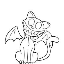 Bat Printable Coloring Pages