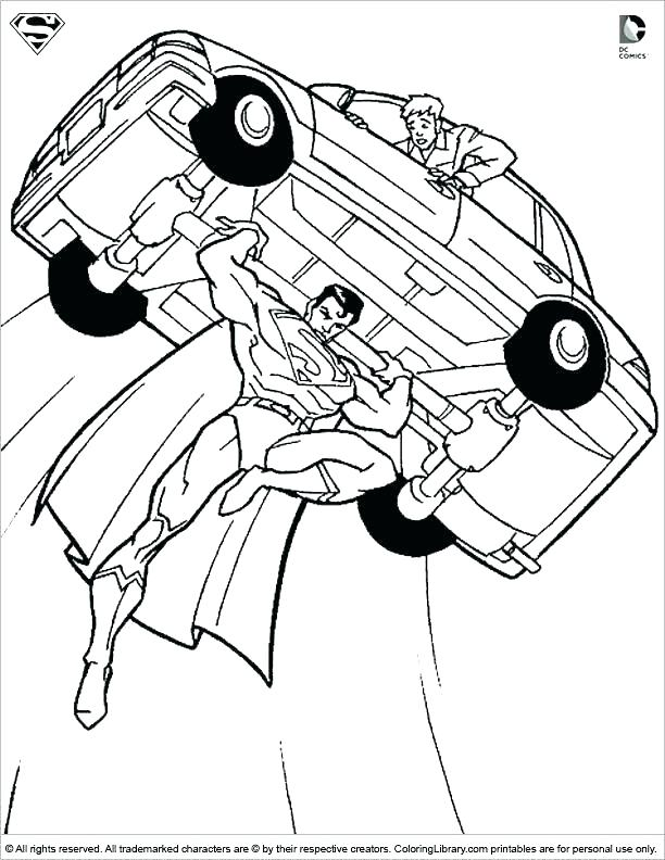 Bat Signal Coloring Pages