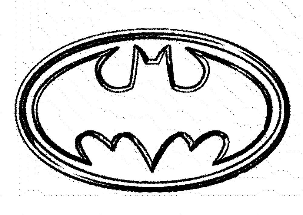 1000x709 Batman Logo Coloring Pages