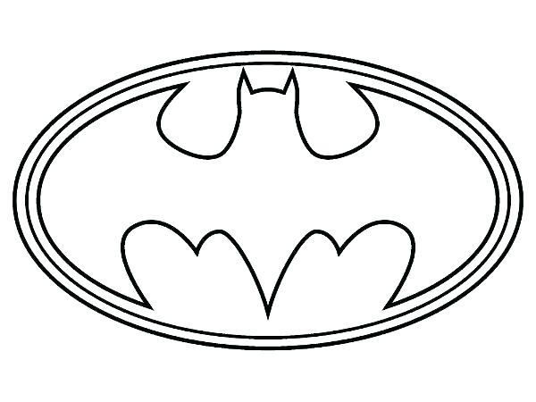 600x450 Batman Symbol Coloring Page Batman Symbol Coloring Page Superhero