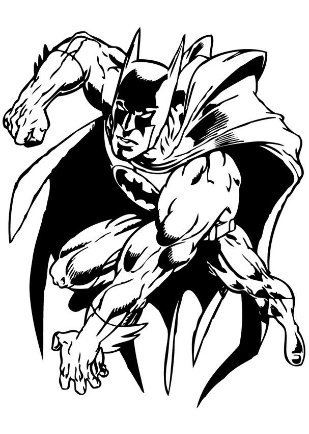 607x850 Color This Batman Coloring Page More Free Coloring Sheets
