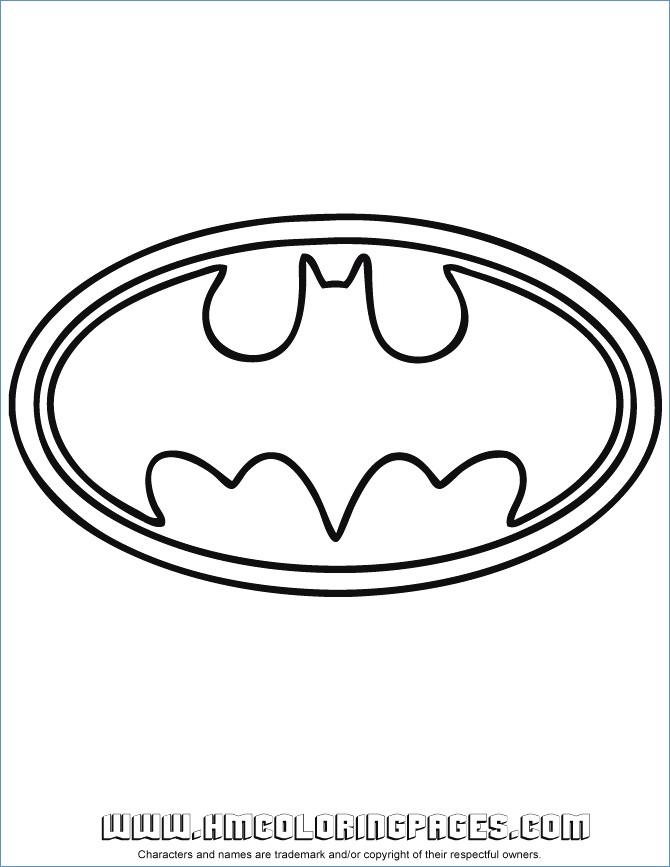 670x867 Fine Batman Symbol Coloring Page Sketch