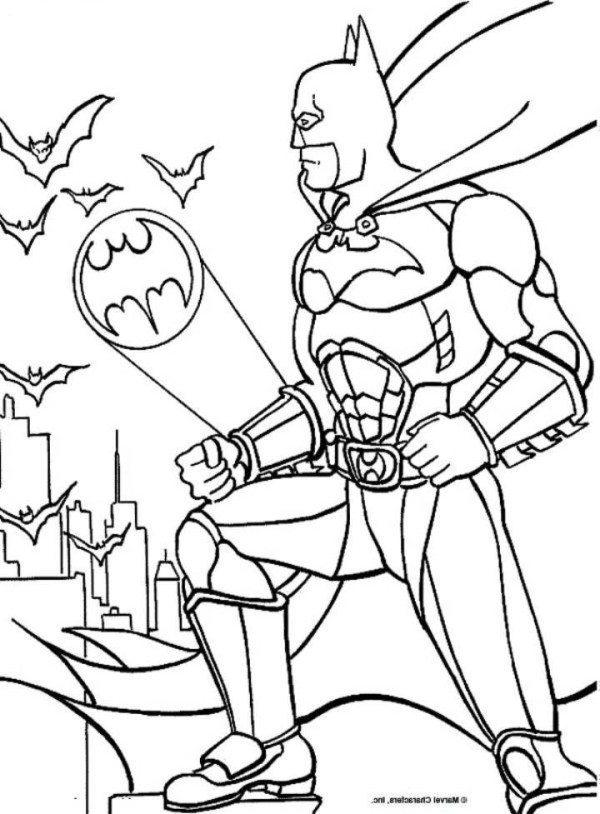 600x814 Batman Batsignal Coloring Page