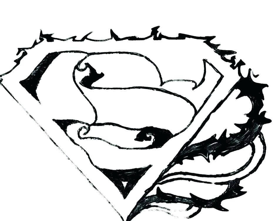 936x752 Superman Symbol Coloring Pages Superhero Logos Coloring Pages