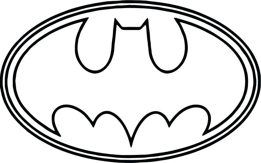 878x547 Coloring Batman Symbol Coloring Pages Bat Signal Free Batman