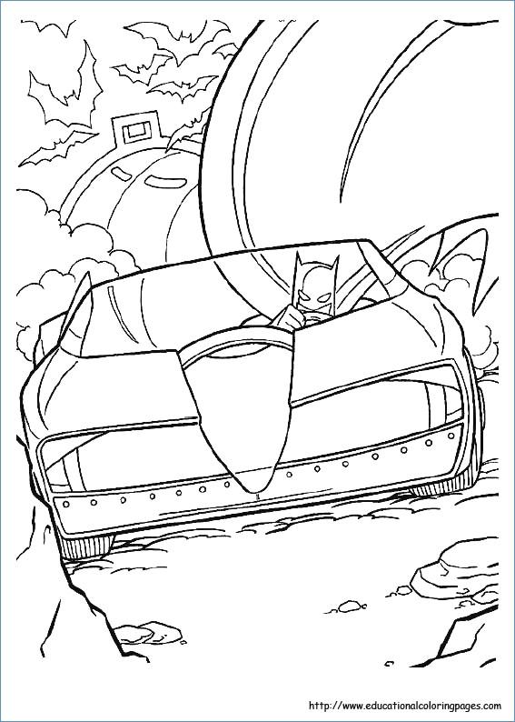 567x794 Batman Batsignal Coloring Page