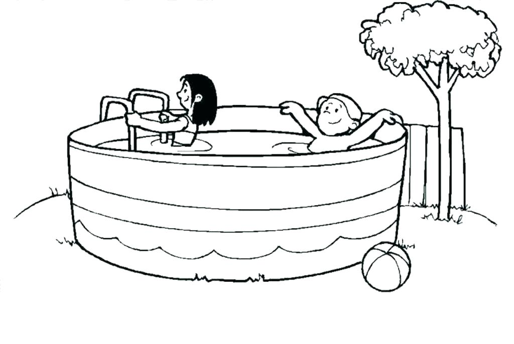 1024x686 Swimming Coloring Page Swimming Coloring Page Pool Coloring Pages