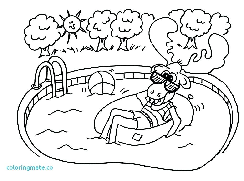 1024x763 Swimming Coloring Pages Drawn Fishing Fish Bathing Suit Sheets