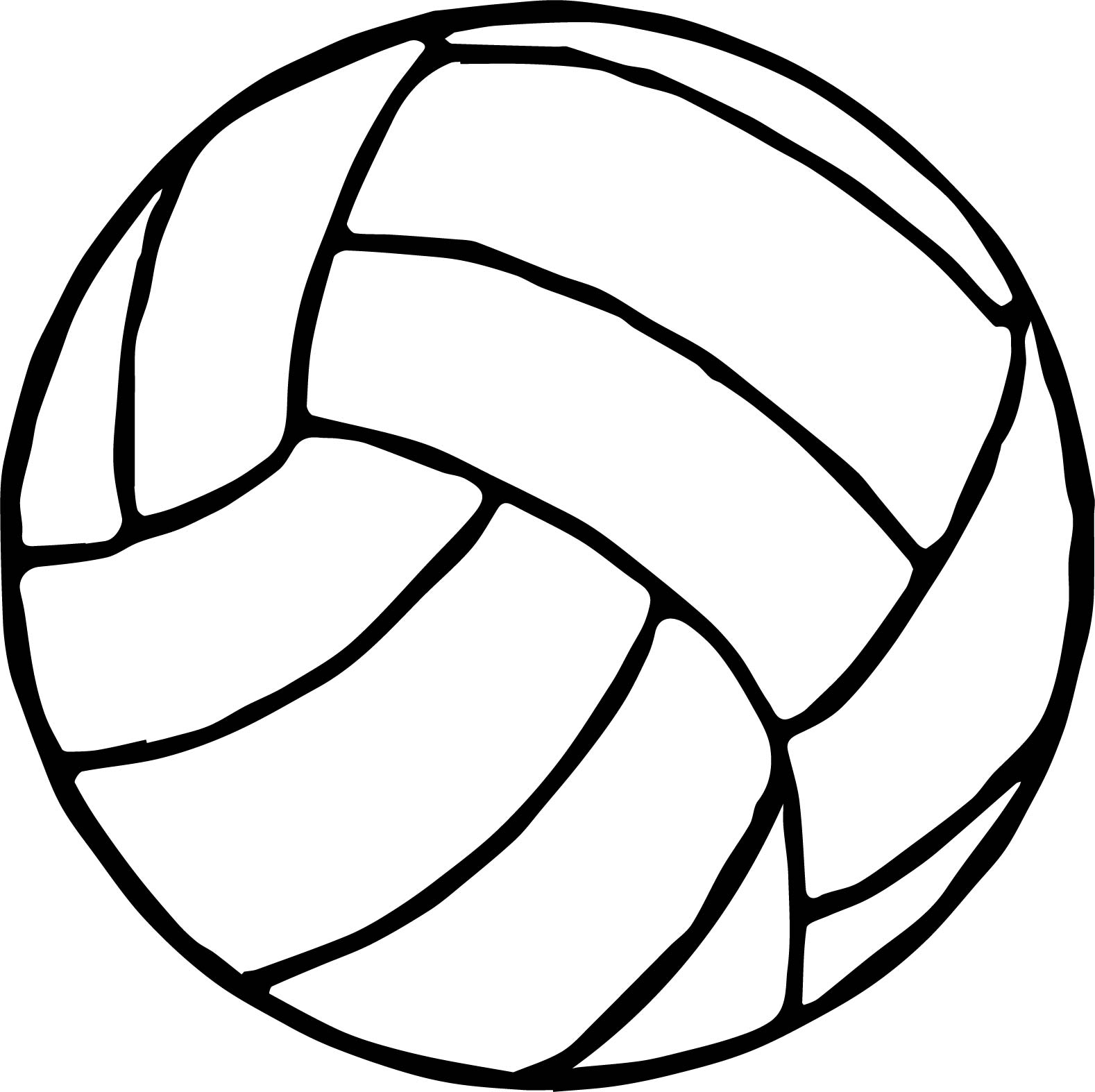 1578x1574 Volleyball Coloring Page Free Printable Pages General To Print
