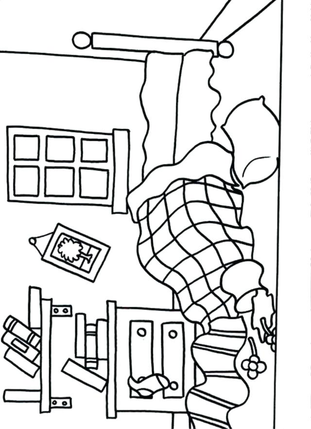 640x881 Bed Coloring Pages Bed Coloring Sheet Hospital Bed Coloring Page