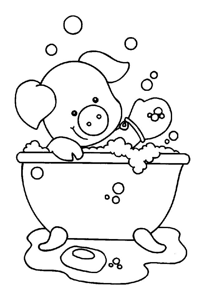 680x971 Coloring Pages Bathroom