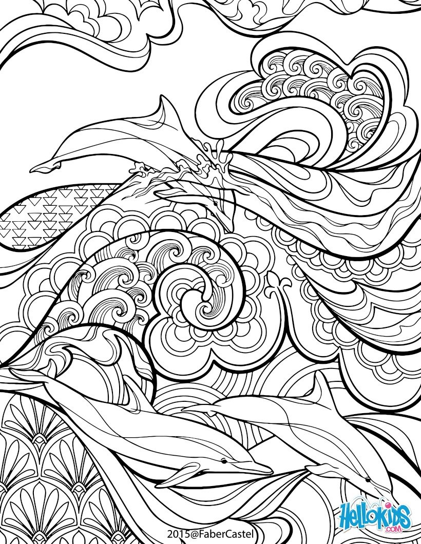 820x1060 Dolphins And Waves