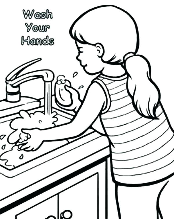 600x754 Handwashing Coloring Pages Coloring Pages Hand Washing Coloring