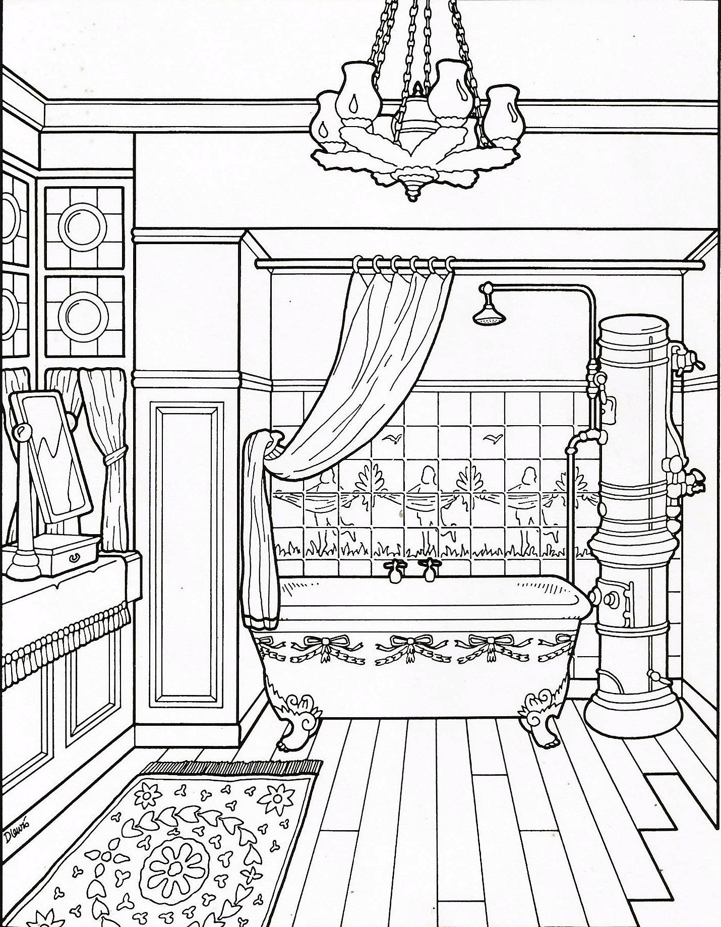 1430x1838 Coloring Pages Adult