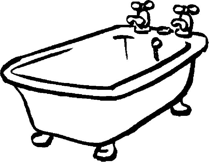 675x523 Bath Tub Clip Art Coloring Page