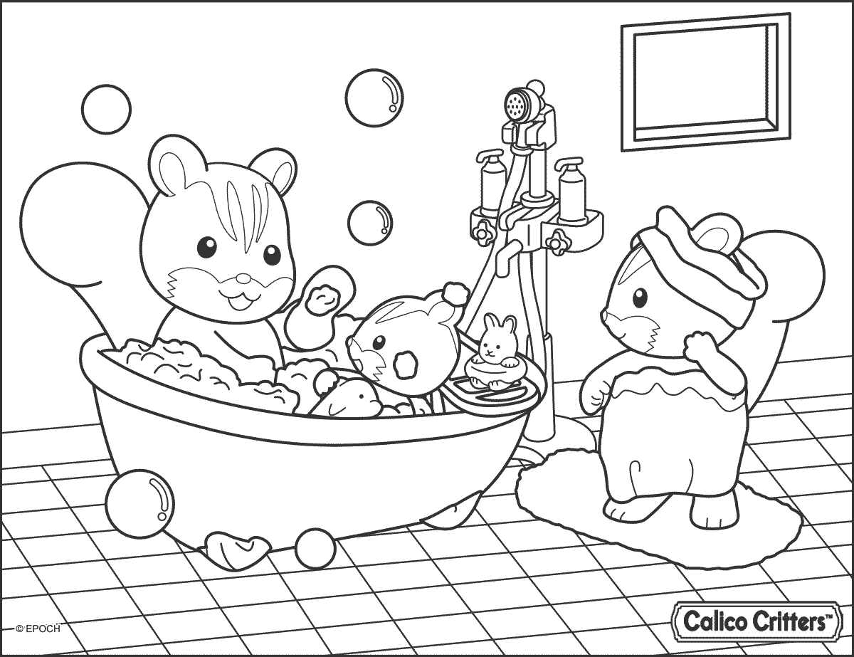 1200x923 Bathroom Coloring Pages
