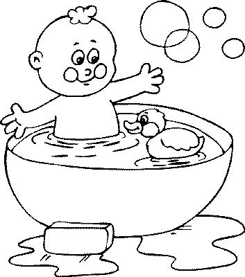 353x400 Bathroom Coloring Pages