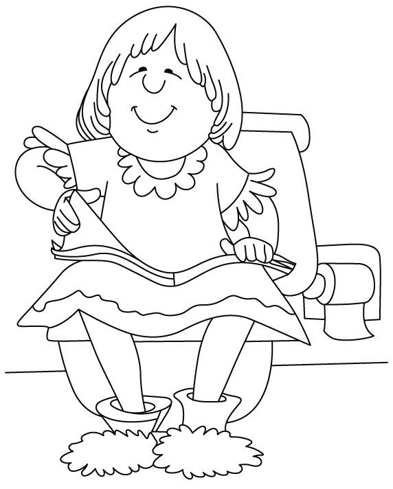 Bathtub Coloring Page