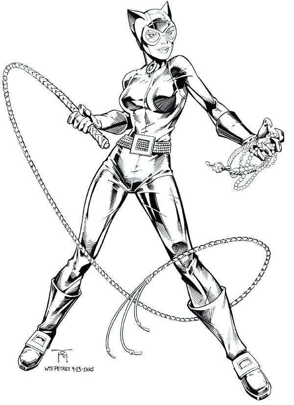 600x826 Catwoman Coloring Page Coloring Pages Google Search Batman