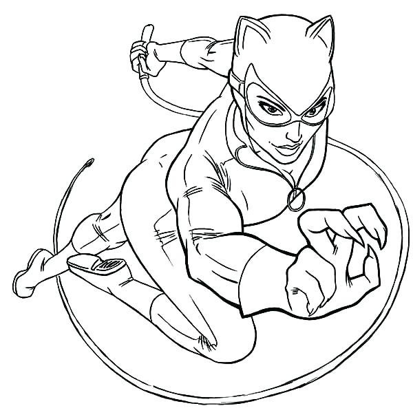 600x606 Catwoman Coloring Pages Mask Coloring Page Batman Vs Catwoman