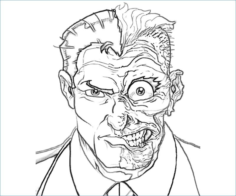 800x667 Catwoman Mask Coloring Page