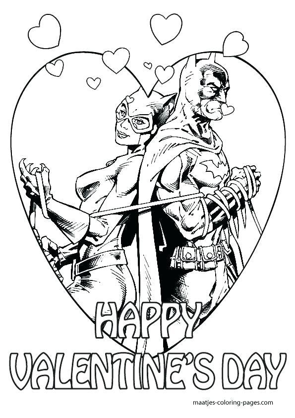 595x842 Batman And Catwoman Coloring Pages Fuhrer Von