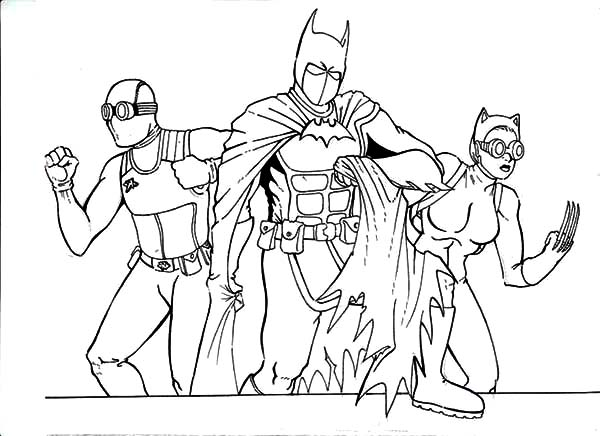 Batman And Catwoman Coloring Pages At Getdrawings Com Free For
