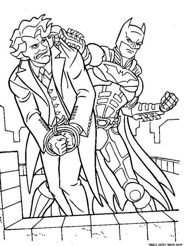 600x783 Batman And Joker Coloring Pages Online Free