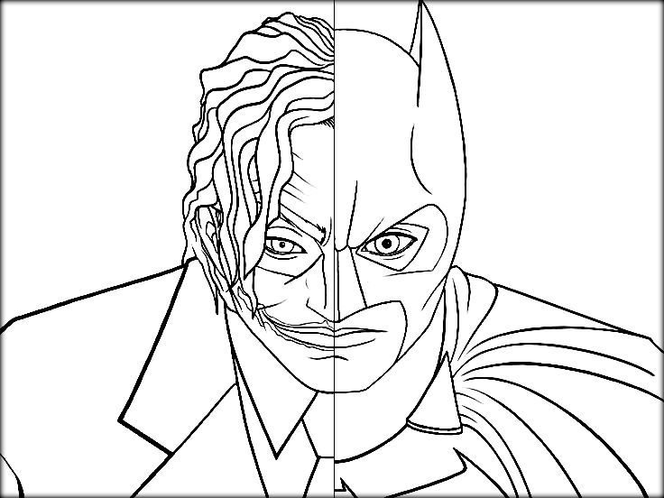 736x552 Joker Coloring Pages Collections Free Coloring Pages