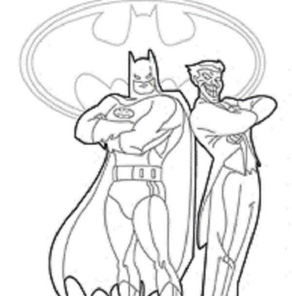 600x608 Batman And Joker Coloring Pages Batman Fighting Joker Coloring