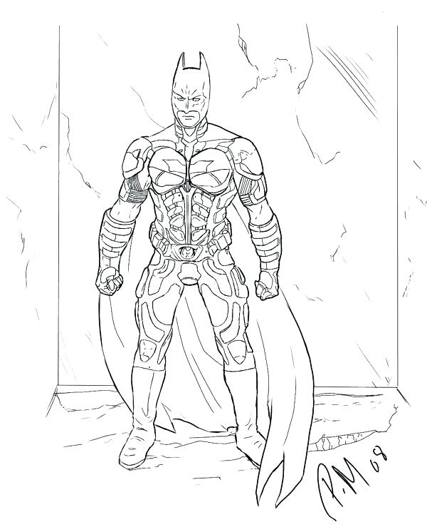 600x739 Batman For Coloring