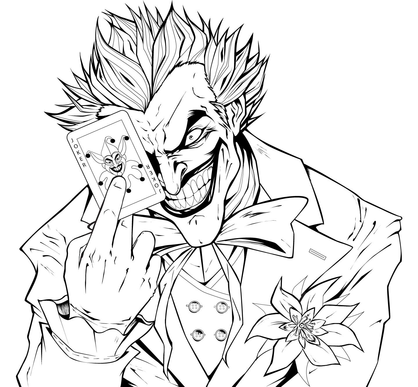 1440x1333 Joker Coloring Pages Printable My Image Sense Coloring Pages