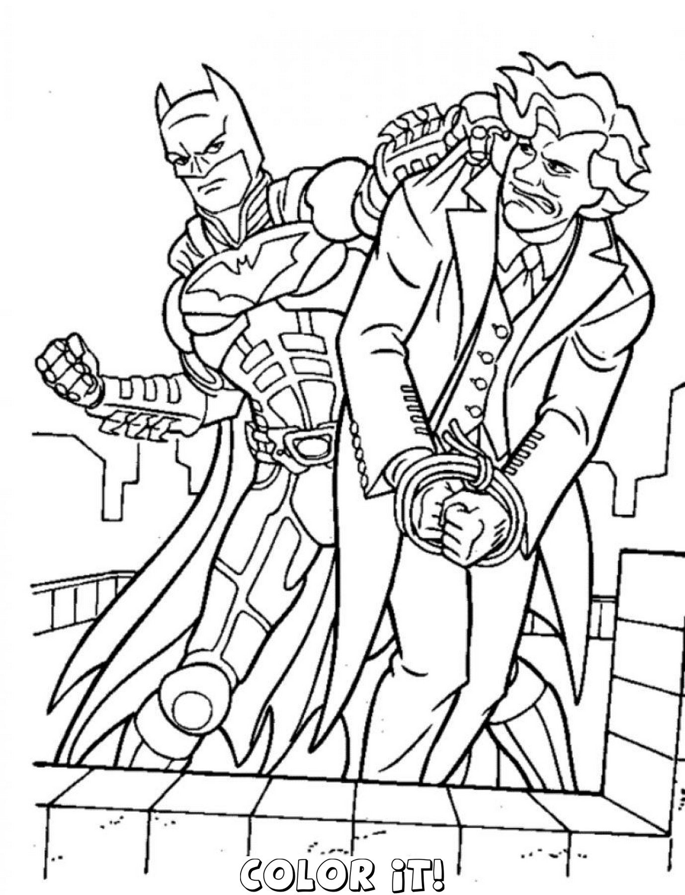 1378x1800 Luxury Batman And Joker Coloring Pages About Remodel Color