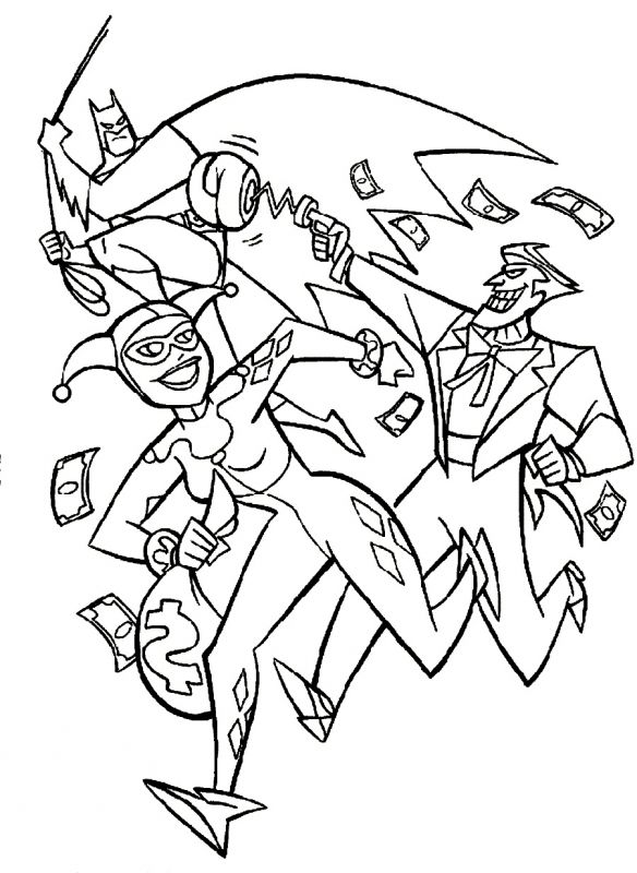 584x800 Batman And Joker Coloring Pages Getcoloringpages Coloring Pages