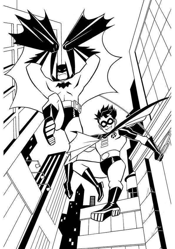 595x842 Batman Robin Coloring Pages