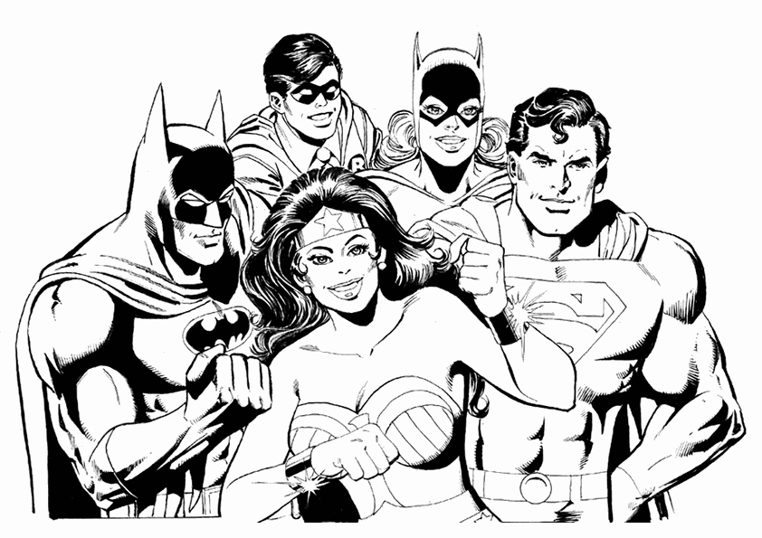 842x595 Batman And Robin Coloring Pages