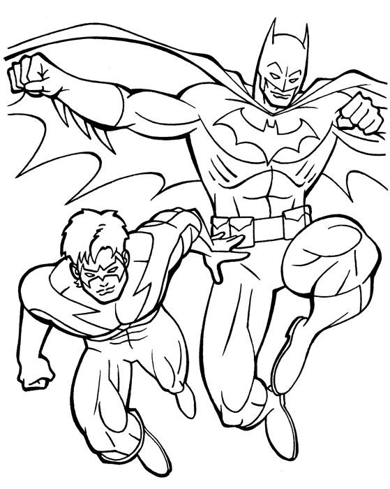 Batman And Robin Coloring Pages at GetDrawings | Free download