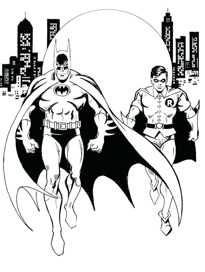 700x928 Coloring Page Batman Batman Robin Coloring Page Batman