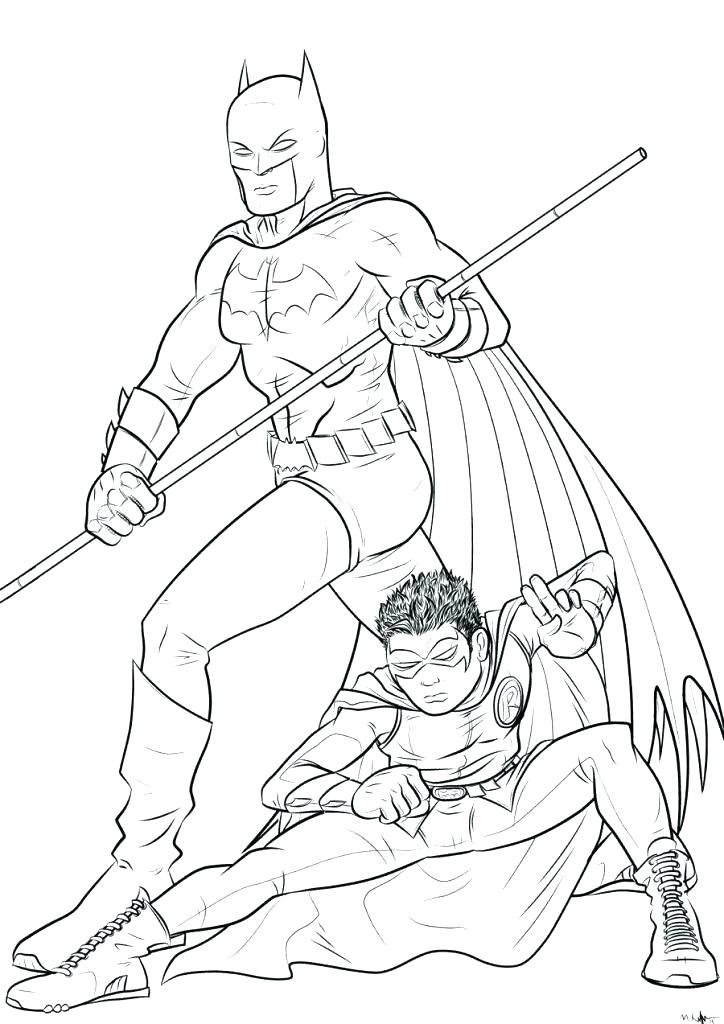 724x1024 Robin Coloring Pages Batman And Robin Coloring Pages