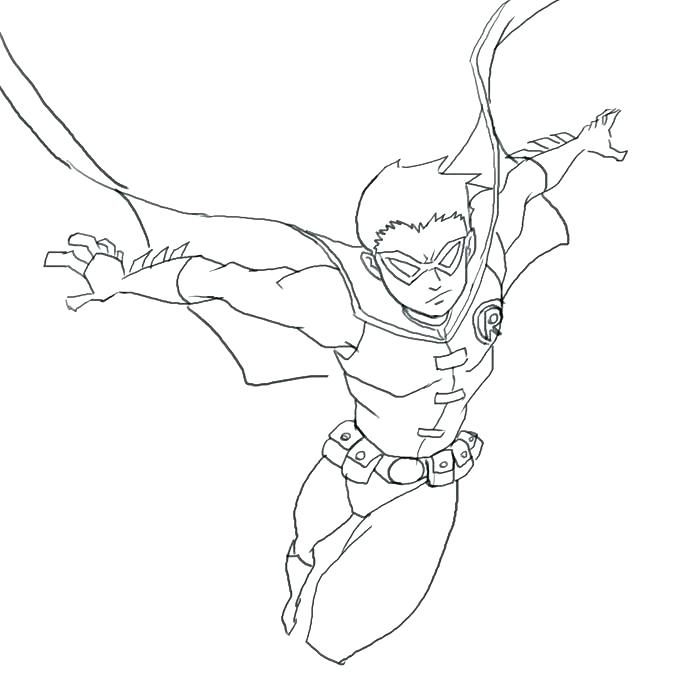 700x700 Robin Coloring Page