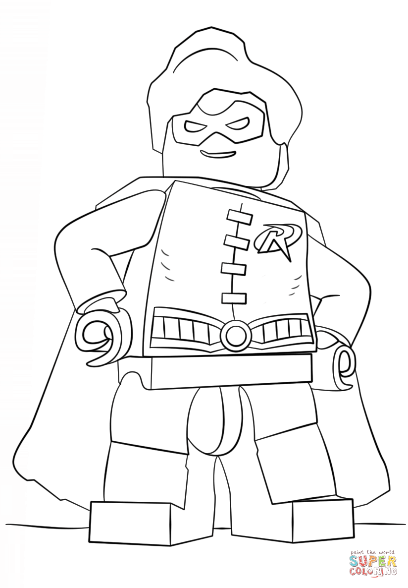 824x1186 Impressive Batman And Robin Coloring Pages Preschool In Tiny Lego