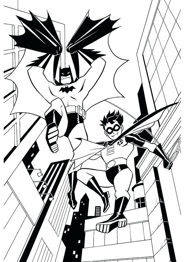 595x842 Printable Batman And Robin Coloring Pages