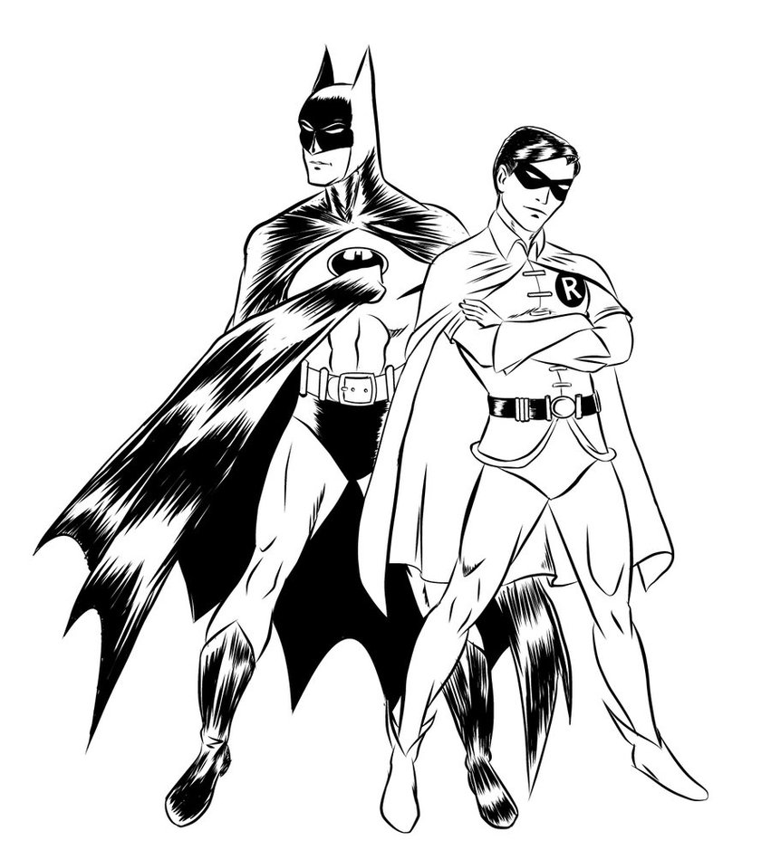 851x939 Batman And Robin Coloring Pages For Kids Coloring Pages World