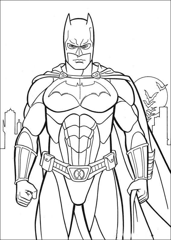 567x794 Batman Coloring Pictures For Kids