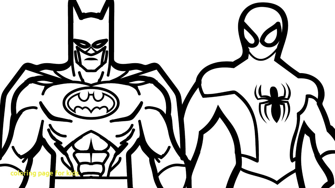 1280x720 Coloring Page For Kids With Spiderman And Batman Book Pages Fun